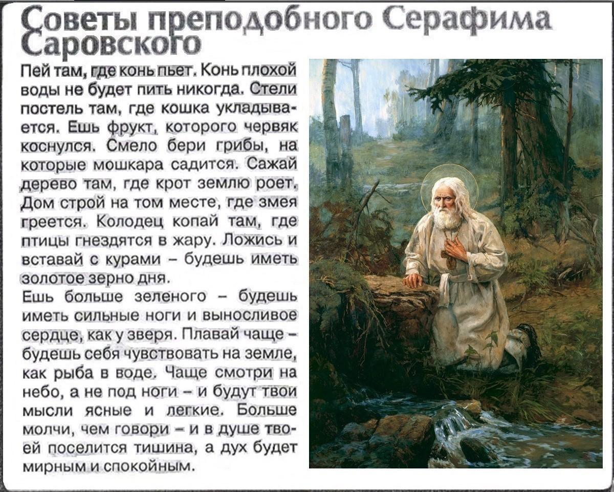 советы. изречения Серафима Саровского